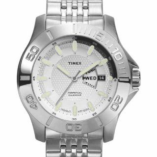 Timex Men's T2J891 Premium Collection Silver Tone Perpetual Calender Stainless Steel Bracelet Watch at  Men's Watch store.
