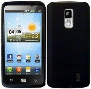 Black Soft Silicone Gel Skin Cover Case for LG Spectrum VS920 Cell Phones & Accessories