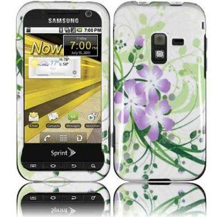 White Green Purple Flower Hard Cover Case for Samsung Galaxy Attain 4G SCH R920 Cell Phones & Accessories