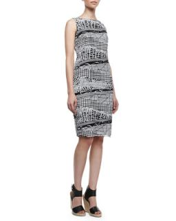 Womens Faith Silk Two Color Multi Print Sleeveless Dress   Lafayette 148 New