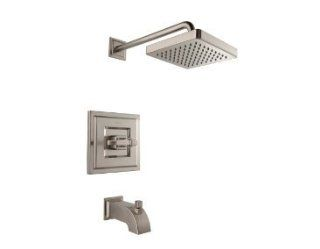 Pfister R898WEK Brushed Nickel Carnegie Carnegie Tub and Shower Valve Trim Package with Single Metal Lever Handle R898 WE   Tub And Shower Faucets