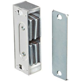 "Rockwood 901.ALM Aluminum Extra Heavy Duty Magnetic Catch, 13/16"" Width x 3 1/3"" Height x 1"" Thickness, Natural Aluminum Finish Hardware Catches"