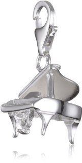 VINANI brand Germany 925 Sterling Silver Charm Pendant Piano shiny HPIA Jewelry