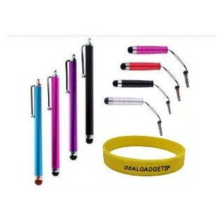 Dealgadgets� Bundle of 8 Stylus   Blue, Hot Pink,Purple, Black   Universal Capacitive Touch Screen Pen for iPad Air/iPad Mini/iPod/iPhone 5S 5C/Nokia Lumia 929/Samsung Galaxy Tab Pro 10.1/Galaxy S5,Note 3/Google Nexus 5 Electronics