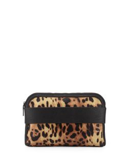 Dream Boat Leopard Print Clutch Bag   French Connection