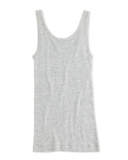 Girls Favorite Ribbed Tank Top, Heather Gray, S XL   Vince