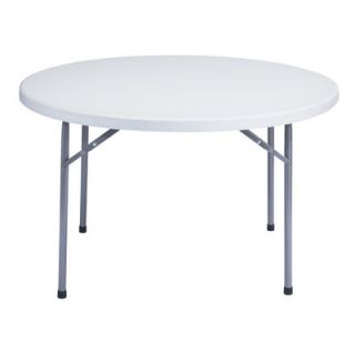 National Public Seating Blow Molded 48 Round Folding Table BT 48R