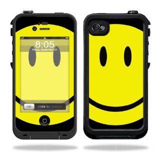 MightySkins Protective Vinyl Skin Decal Cover for LifeProof iPhone 4 / 4S Case Sticker Skins Smiley Face Cell Phones & Accessories