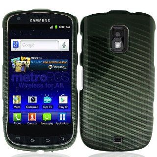 Black Carbon Fiber Print Hard Cover Case for Samsung Galaxy S Lightray 4G SCH R940 Cell Phones & Accessories