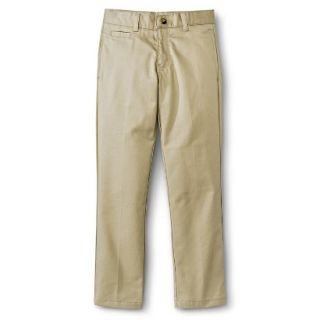 French Toast Boys School Uniform Flat Front Pant   Khaki 10