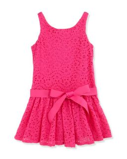 Floral Lace Sleeveless Dress, Regatta Pink, Girls 2T 3T   Ralph Lauren