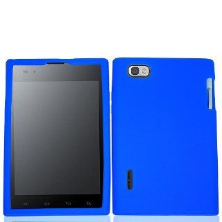 Blue Soft Silicone Gel Skin Cover Case for LG Intuition VS950 Optimus Vu P895 Cell Phones & Accessories