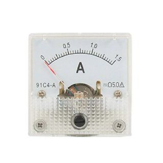 91C4 DC 1.5A Analog Current Panel Meter Gauge Ammeter