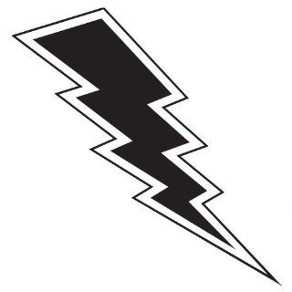 lightning bolt wall art decal 2   Vinyl Sticker Wall Art Deco Decal 60cm Height, 24cm Width   Black Vinyl