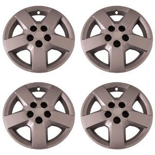 Set of 4 Silver 16 Inch Aftermarket Replacement Hubcaps with Bolt On Retention System   Part Number IWC440/16S Automotive