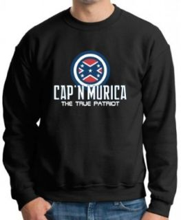 Cap'n Murica Premium Crewneck Sweatshirt at  Men�s Clothing store