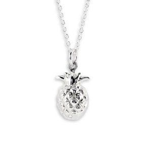 New .925 Sterling Silver Pineapple Pendant Necklace Jewelry