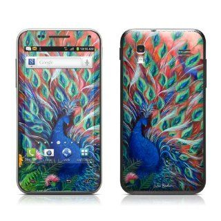 Coral Peacock Design Protective Skin Decal Sticker for Samsung Captivate Glide SGH i927 Cell Phone Cell Phones & Accessories