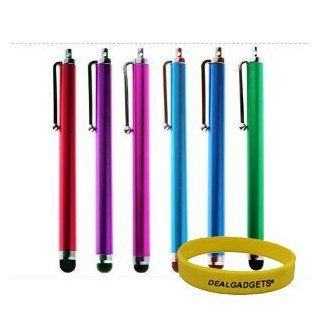 Dealgadgets� Bundle of 6 Stylus   Red, Purple, hot Pink, Blue, Sea Blue, Green   Universal Capacitive Touch Screen Pen for iPad Air/iPad Mini/iPod/iPhone 5S 5C/Nokia Lumia 929/Samsung Galaxy Tab Pro 10.1/Galaxy S5,Note 3/Google Nexus 5 Computers & Acc