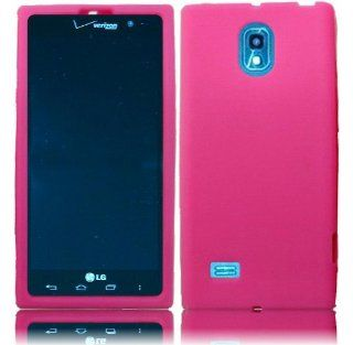 For LG Spectrum 2 VS930 Silicone Jelly Skin Cover Case Hot Pink Cell Phones & Accessories