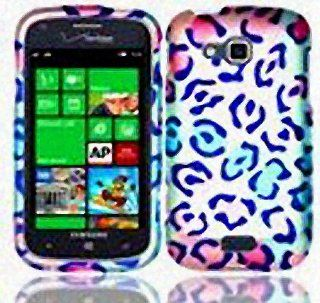 Pink Blue Leopard Print Hard Cover Case for Samsung ATIV Odyssey SCH I930 Cell Phones & Accessories