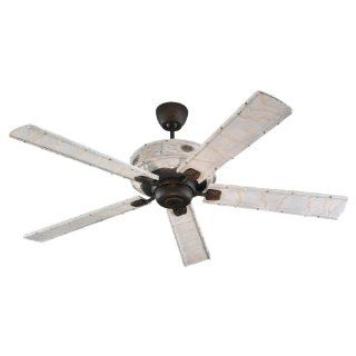 Monte Carlo 5BM66RB Birch Meadow, 66 Inch 5 Blade Ceiling Fan, Roman Bronze Motor Finish and Birch Bark Blades