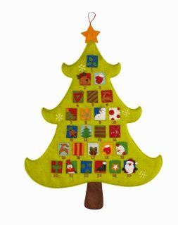 Christmas Tree Shaped Advent Calendar By Grasslands Road   Holiday Decor Advent Calendars