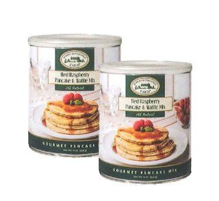 Two pack of Robert Rothschild Farm Red Raspberry Pancake / Waffle Mix, 2  16 Oz. Cans  Pancake And Waffle Mixes  Grocery & Gourmet Food