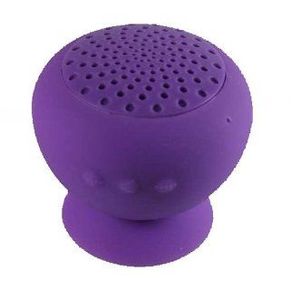 Purple Portable Mini Bluetooth Speaker & Microphone Wireless Hands Free Waterproof Silicon for Android Smart Phone Iphone 3/4/4S/5 Samsung  Players & Accessories
