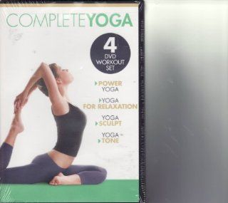 Gaiam Complete Yoga 4 DVD Set Power Yoga / For Relaxation / Sculpt / Tone Movies & TV