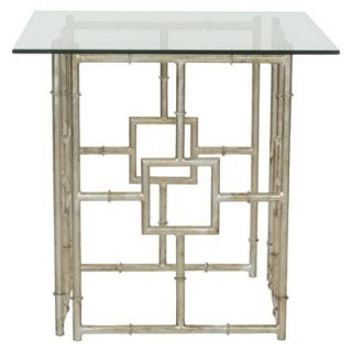 Safavieh Dermot Accent Table   Silver/Clear