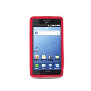Samsung Infuse 4G i997 SGH I997 Red Soft Silicone Gel Skin Cover Case Cell Phones & Accessories