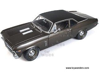 Amm966 Auto World Ertl Elite   Chevrolet Nova Ss396 Hard Top 20th Anniversary (1969, 118, Burnished Brown) Amm966 Diecast Car Model Auto Vehicle Automobile Metal Iron Toy Toys & Games