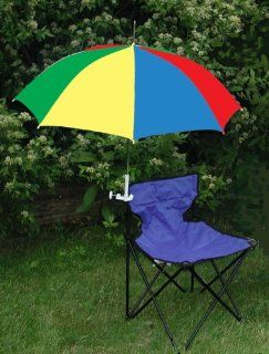Lime Green/Black Clamp On Chair Umbrella for Aluminum or Canvas Folding Chairs   Great for Car Shows, Softball and Soccer Games, Vacations, Patio, Deck  Patio, Lawn & Garden
