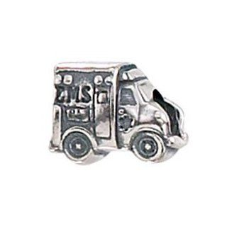 Zable Ambulance Hobbies Professions Sterling Silver Charm Jewelry