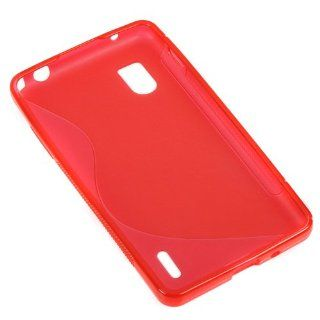 Evecase S Shape TPU Cover Case for LG Optimus G, LS970   Red (Sprint Version Compatible) Cell Phones & Accessories