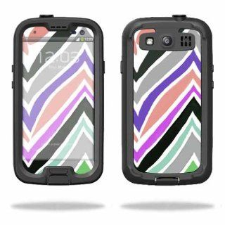 MightySkins Protective Vinyl Skin Decal Cover for LifeProof Samsung Galaxy S III S3 Case fre Sticker Skins Colorful Chevron Cell Phones & Accessories