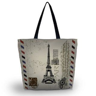 Eiffel Tower Reusable Shoppers Tote Shopping Bag case Foldable Market Grocery Bag Eco Friendly Kitchen & Dining