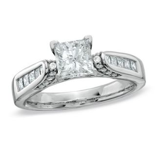 CT. T.W. Certified Princess Cut Diamond Engagement Ring in 14K