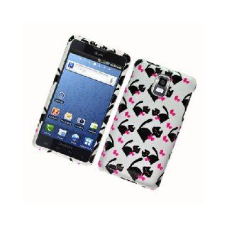 Samsung Infuse 4G i997 SGH I997 Bow Tie Black Cat White Glossy Cover Case Cell Phones & Accessories