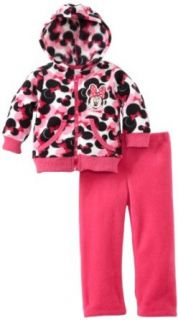 Disney Baby girls Infant 2 Piece Minnie Mouse Polar Fleece Set Infant And Toddler Pants Clothing Sets Clothing