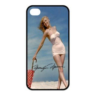 Classic Sexy Beauty Marilyn Monroe Series Customized Special DIY Best Rubber Case Cover for iPhone 4 4s Cell Phones & Accessories