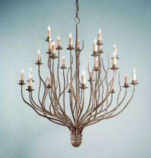 Troy Lighting F9374SY SH Sycamore with Shades Sycamore Rustic / Country Twenty Four Light Chandelier
