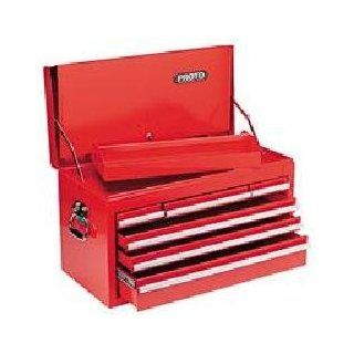 "Proto 44103 26 1/4""Wx12 1/2""Dx15 1/8""H Red Standard Duty 6 Drawer Drop Front Top Chest   Toolboxes"