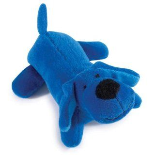 Zanies Plush Neon Lil Yelpers Dog Toy, Bright Blue