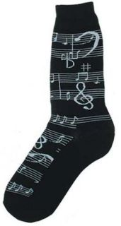 Men's Music Notes Trouser Socks by Foot Traffic at  Men�s Clothing store Casual Socks