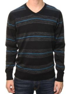 RetroFit Men's Long Sleeve Henley Striped Hooded Shirt Sweater Black 2XL at  Men�s Clothing store