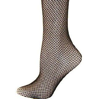 Foot Traffic's Double Fishnet Trouser Socks in Black
