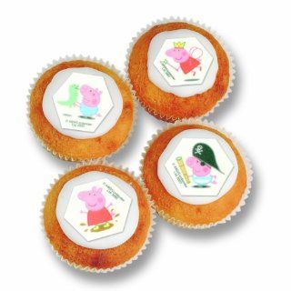 Peppa Pig Cupcake Toppers Decorative Cake Toppers Kitchen & Dining