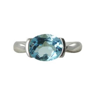 Oval Sky Blue Topaz Ring in Sterling Silver   Zales